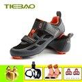 Tiebao sapatilha ciclismo обувь для велоспорта дорожный Триатлон 2019 Мужская дышащая обувь для шоссейного велосипеда спортивная обувь для верховой езд...