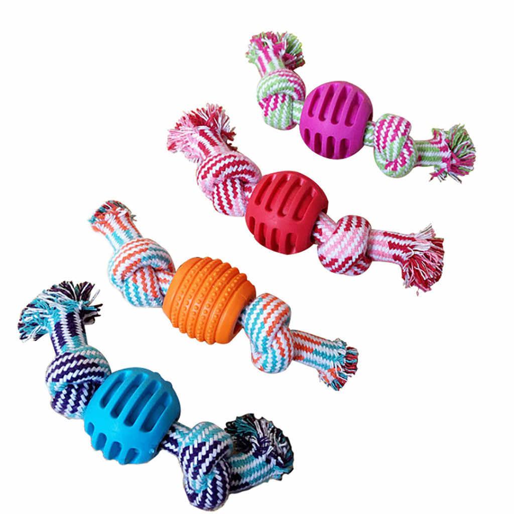 Zabawki dla szczeniaka artykuły dla zwierząt pleciona kość lina wata cukrowa kształt supeł do gryzienia cukierki kształt czyszczenie zębów narzędzia bawełniane liny