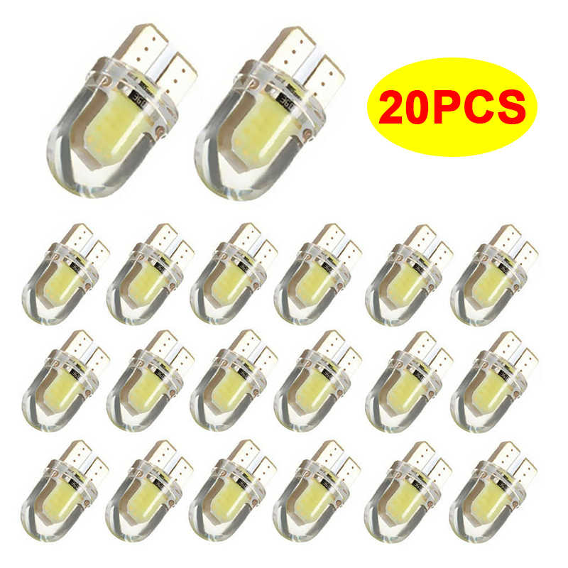 20x T10 W5W COB LED CANBUS Car Interior Reading Dome Light For Renault Megane 2 3 Duster Clio Symbol Logan Scenic Trafic Captur