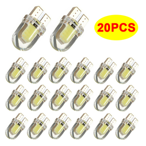 20x W5W T10 COB LED Light Bulb Car CANBUS Parking Lights For Chrysler 300c Voyager Pacifica Sebring 300 Town Country Pt Cruiser(China)