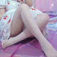 White See Through Tights Body Stockings Polka Dot Thin Pantyhose Sweet Lolita Lovely Silk Stockings for Women Girl Friend Gifts