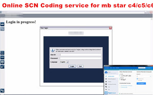 Image 2 - 2020 Online SCN Coding service for mb star c4 sd c5 sd Connect Compact for MB cars ODIS Online Coding Account Login for Au.di