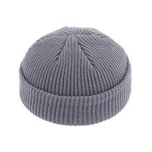 Зимняя теплая вязаная шапка с черепом Повседневная короткой
