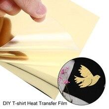 Креативные текстильные струйные принтеры футболка печать бумага железо на бумаге подсветка для фотографий Цвет Diy A4 золото теплопроводная бумага