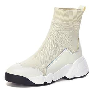 Image 2 - FEDONAS الجوارب أحذية النساء الخريف الشتاء الدافئة حذاء من الجلد عالية الكعب أسافين منصة حذاء كاجوال امرأة جديدة حقيقية أحذية من الجلد