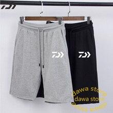 Daiwa брюки для рыбалки мужская летняя хлопковая дышащая быстросохнущая велосипедная трикотажная одежда анти-пот сплошной шнурок рыболовные шорты