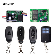 QIACHIP 433 Mhz Universal Wireless Remote Control Switch DC 24V 12V 2CH 1CH Relay Receiver Module and RF Transmitter controller 2019 new dc 12v 24v 16 ch channels 16ch rf wireless remote control switch system transmitter receiver 315 433 mhz