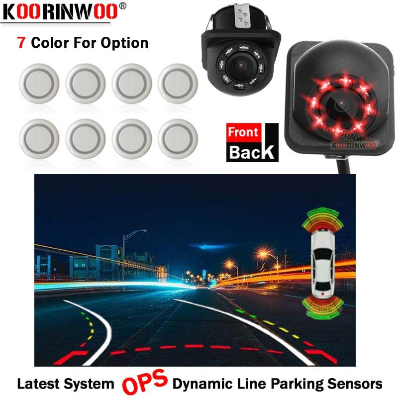 Koorinwoo, новейшая система OPS, динамическая траектория, парктоник, автомобильные видео датчики парковки, Парктроник, парковочная камера, фронта...