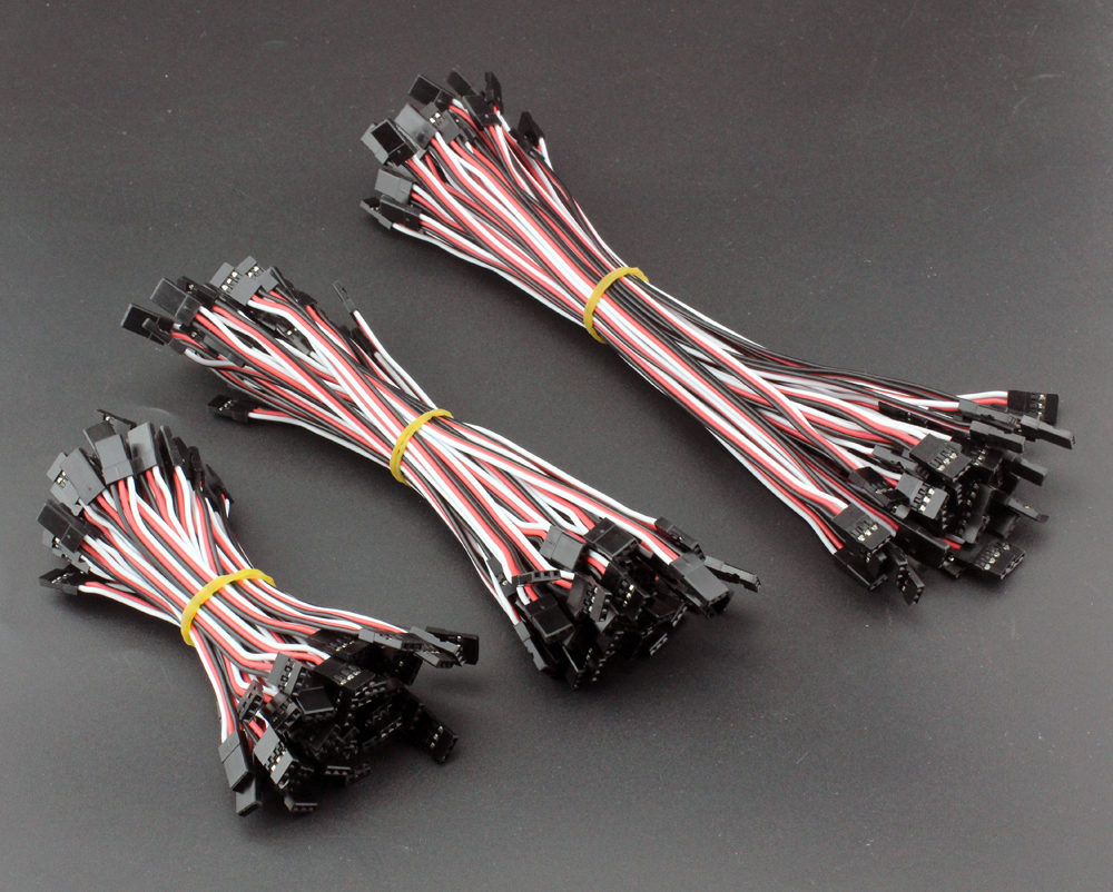 10x 10cm Servo Extension Lead Wire Cable MALE TO MALE KK MK MWC flight control
