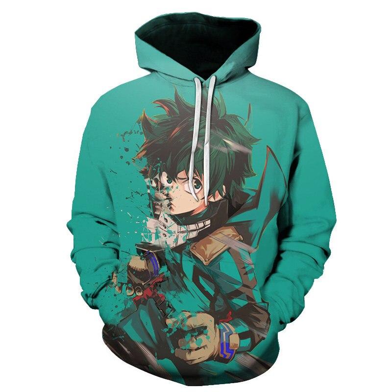 My Hero Academy 3D Printed Women/Men Cartoon Long Sleeve Autumn Hooded Sweatshirts Hot Sale Popular Streetwear Hoodies Coat