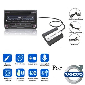 DOXINGYE USB AUX Bluetooth Car Digital Music CD Changer Adapter Car MP3 Player For Volvo HU-series C70 S40/60/80 V70 Interface