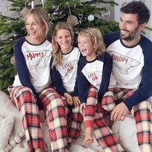 цена Christmas Family Pajamas Set Winter Clothes PAPA MAMA Bear Home Sleepwear New Baby Kid Dad Mom Matching Family Outfits H0936 в интернет-магазинах