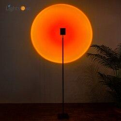 Arco-íris arte pôr do sol lâmpada de assoalho projeção criativo decoração designer atmosfera lâmpada sol nunca define luz chão