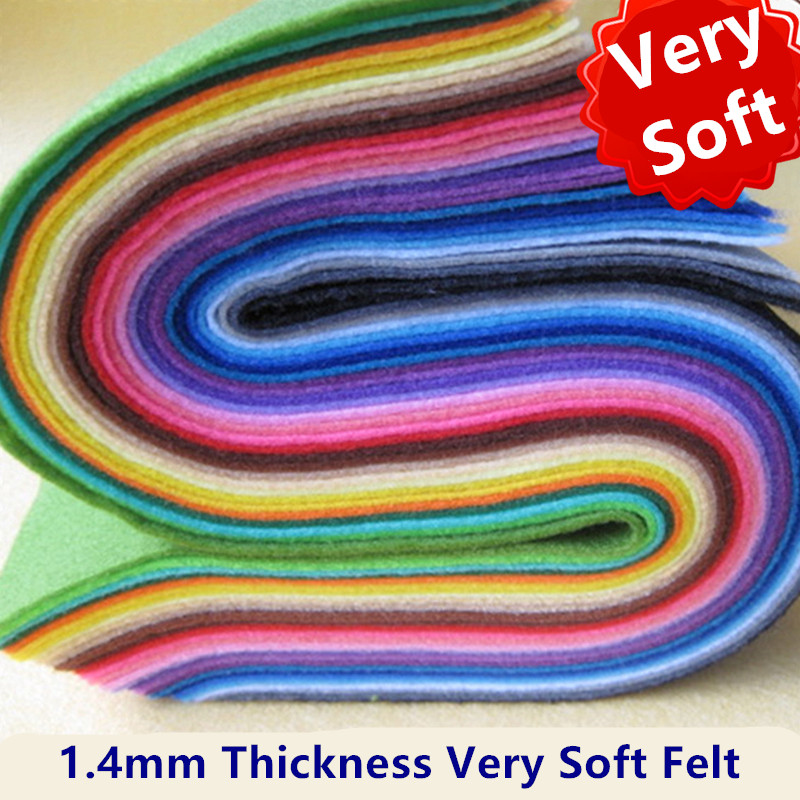 40*50cm Soft Nonwoven Polyester Cloth Felt Fabric For DIY Sewing Toys Crafts Dolls Handmade Needlework Material Home Decor Felts