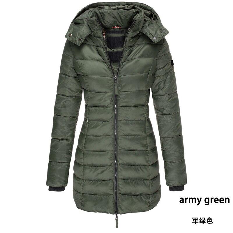 Бренд Zogaa, женские парки, зимняя куртка, пальто, Повседневная приталенная куртка с хлопковой подкладкой, длинная парка, женские ватные теплы...