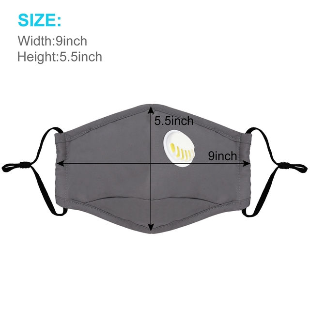 3pcs Cotton PM2.5 Anti Haze Mask Breath Valve Anti-Dust Mouth Mask Activated Carbon Filter Respirator Mouth-Muffle Mask Face 4