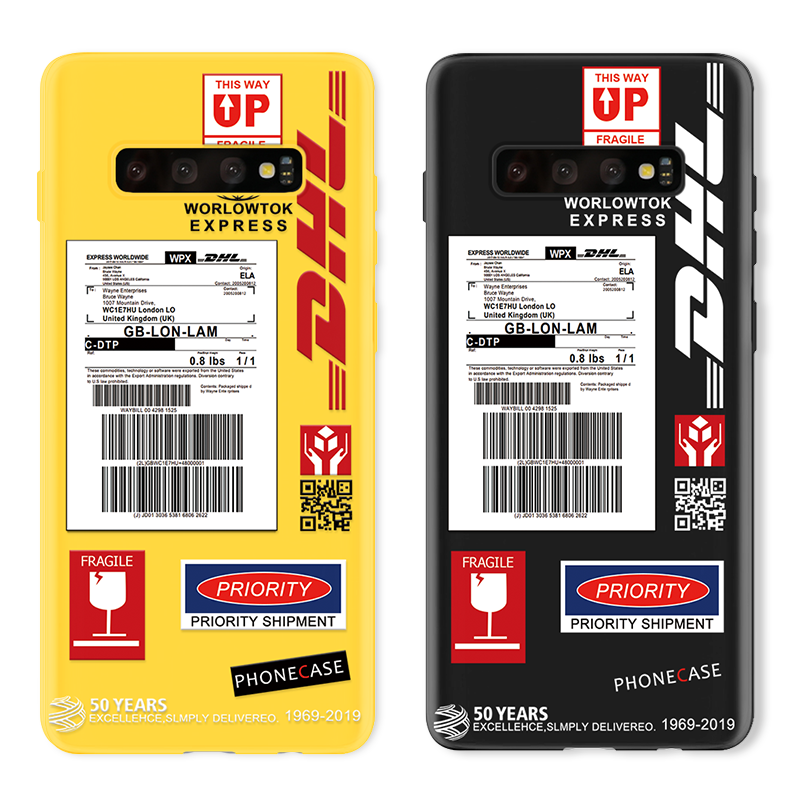 DHL Express TPU Cover For Samsung Galaxy S20 Ultra S10 S9 S8 S10e Note 10 Plus 9 8 A71 A70 A41 A51 A50 A40 A31 A11 A20e A10 Case