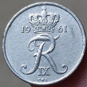 18 мм, 1960-1972, Дания, 100% оригинальная памятная монета, оригинальная коллекция