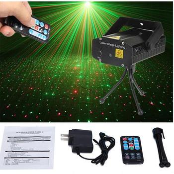 Xmas Party Light 110-240V Black Remote Control Starry Sky Stage Laser Light DJ Club Bar Disco Projector Home Entertainment Light