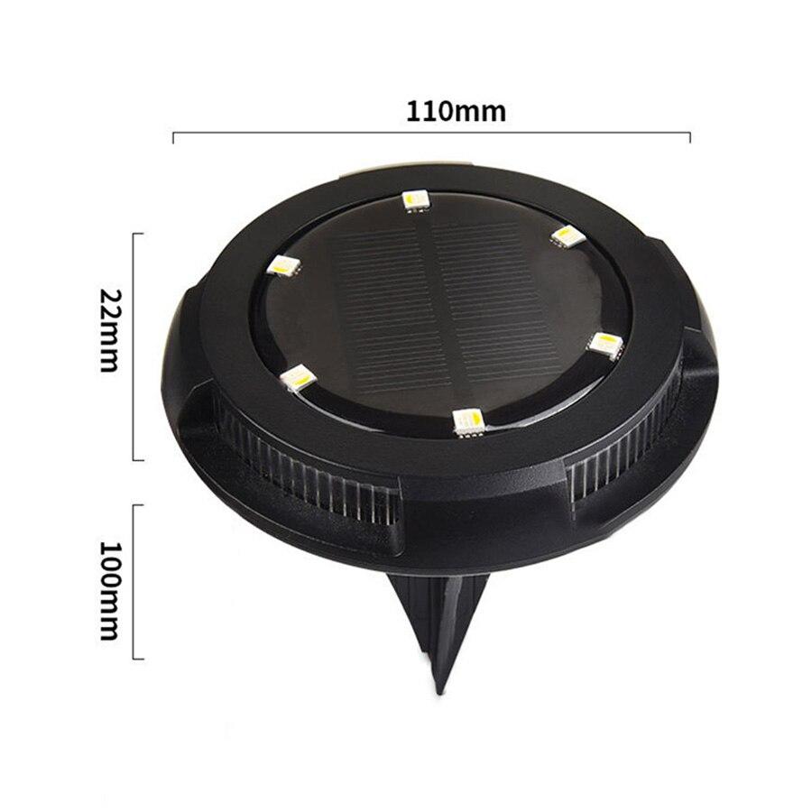 10 led solar powered disk luz caminho 05