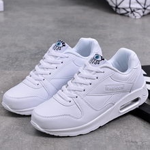 Women Flat Shoes Lace up Causal Air Cushion Sneakers PU Leather Breathable Platform Fur Slides Fashion Ladies Basket Tenis