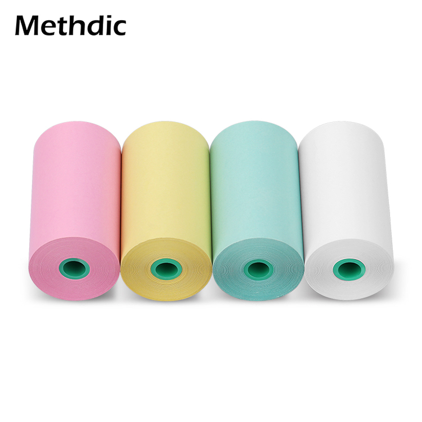 Methdic  57 X 30mm Colorful Thermal Machine Printing Paper Rolls 4Pcs/set For POS
