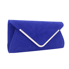 popular lady clutch evening bag graceful velour shopping party wedding envelope for woman young girl