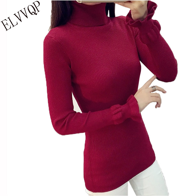 New Herf Winter Thick Coltrui Hot Women Trui Used Pull High Elasticity Soft Trunks Women's Sweaters LU115