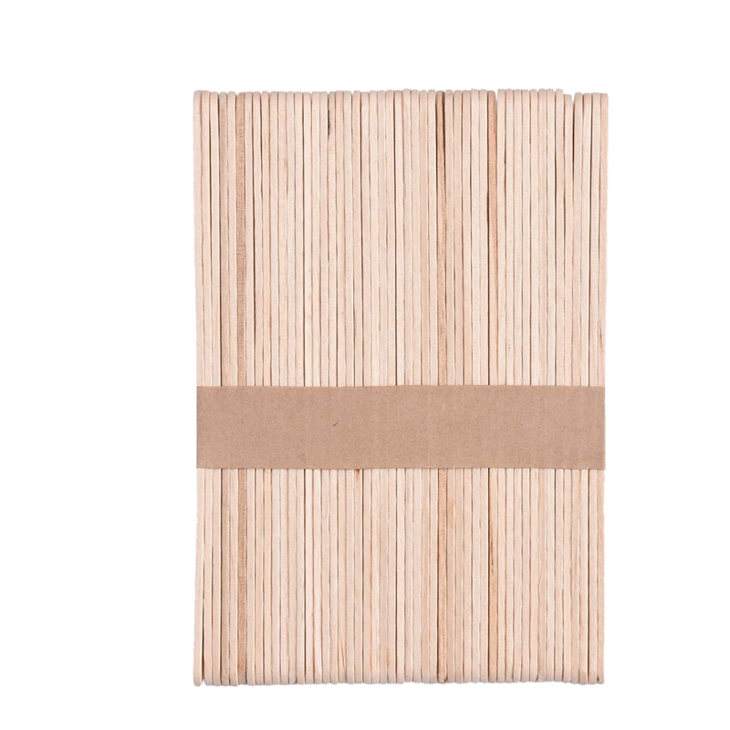 300 Pcs Wax Applicator Sticks, Large Popsicle Sticks, Wooden Craft Eyebrow Waxing Sticks Salon Wax Spatula for Hair Removal on N