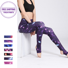 Women Yoga Gym Leggings Athletic Sport Clothing Workout  Pants Print Colorful New 2019