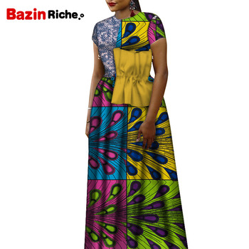 WY7372 One Pcs 2020 Fashion Patchwork Clothing Factory Custom Made Plus Size African Dresses for Women African Print Clothing