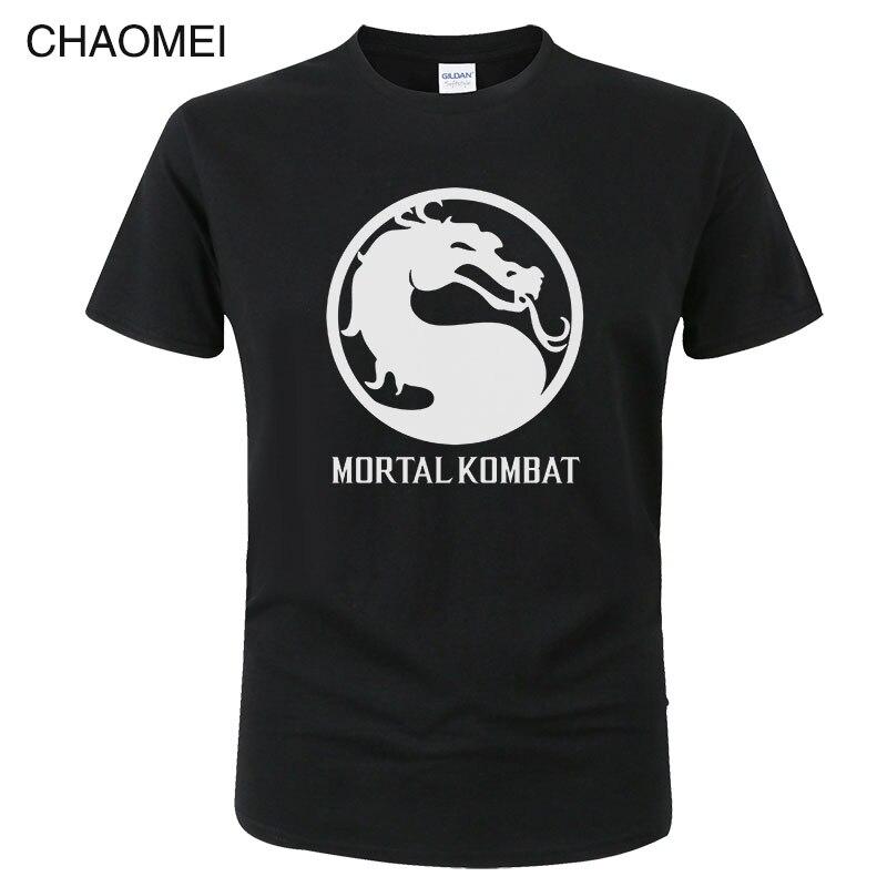 2019 New Fashion Men Women Mortal Kombat Printed Short Sleeve O Neck T Shirt Summer Cotton Casual T-Shirt Top Tees C138