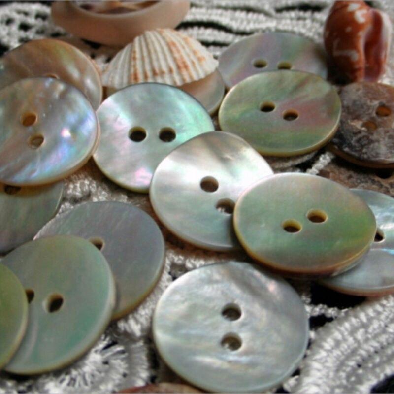 100 шт. 10 мм круглые пуговицы в виде ракушки, пуговицы из натуральных ракушек с 2 отверстиями, японские перламутровые пуговицы
