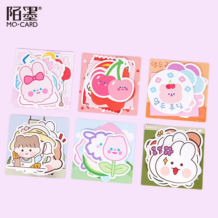 Lovely 12Pcs \DIY Pvc CreativePersonality Sticker Magazine Album Diary Calendar Scrapbook Student Stationery Office Supplies