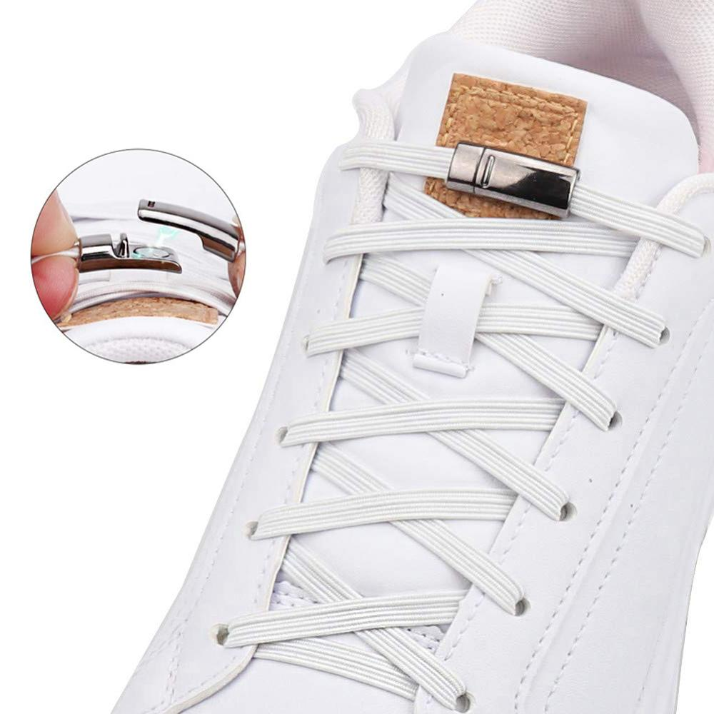 New Elastic Shoelaces Magnetic No Tie Shoe laces Outdoor Leisure Sneakers Lazy laces Kids Adult Unisex Quick Lock Shoe lace in Shoelaces from Shoes
