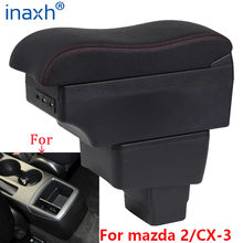 Reposabrazos para coche mazda CX-3, accesorio de carga con USB, para mazda 2 skyactiv versión cx3 CX-3, Caja de almacenamiento para apoyabrazos de coche, 2018