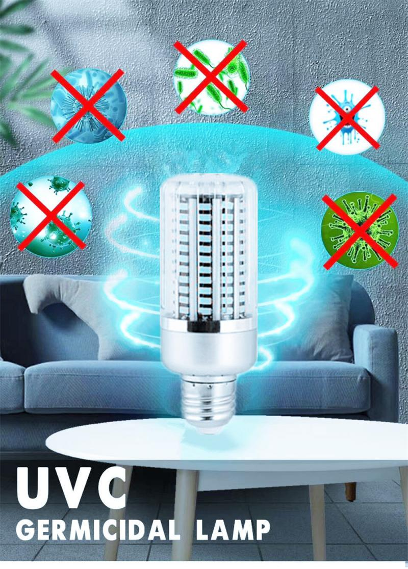 UVC LED 40W UV Lamp Ultraviolet Ozone Germicidal Light Smart Timing Bactericidal Lamp Bacterium Mite Killer Home Bathroom New