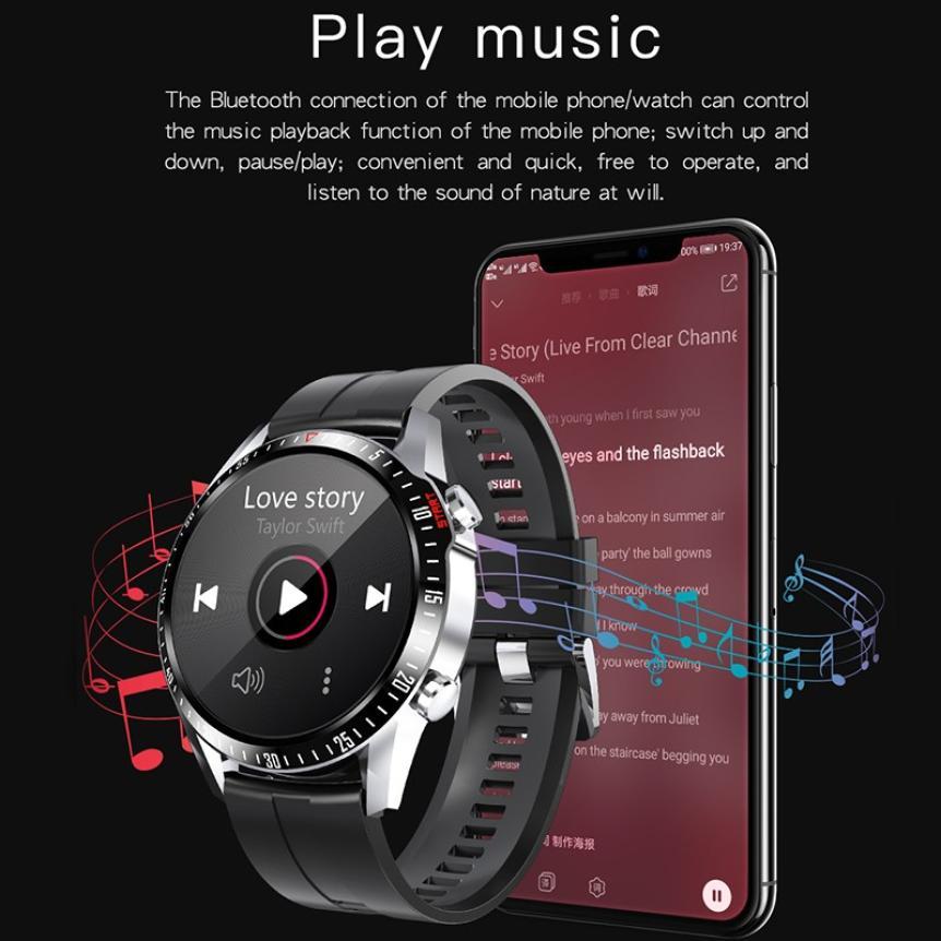 CAH20072902O_CK29 Round Thin 1.28 Screen Smart Watch Bluetooth Touch Waterproof IP67 Smart Band Call Temperature Multi-dials Smart Bracelet (20)