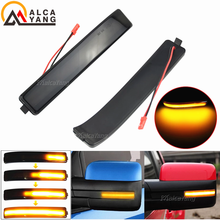 Smoked LED Side Wing Dynamic Turn Signal Light Flowing Rearview Mirror Indicator Blinker Light for Ford F150 SVT Raptor 09 2014