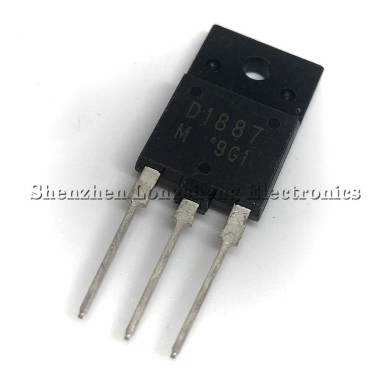 5 шт./лот Spot 2SD1887 D1887 TO-3PF NPN транзистор 1500 В 10A гарантия качества