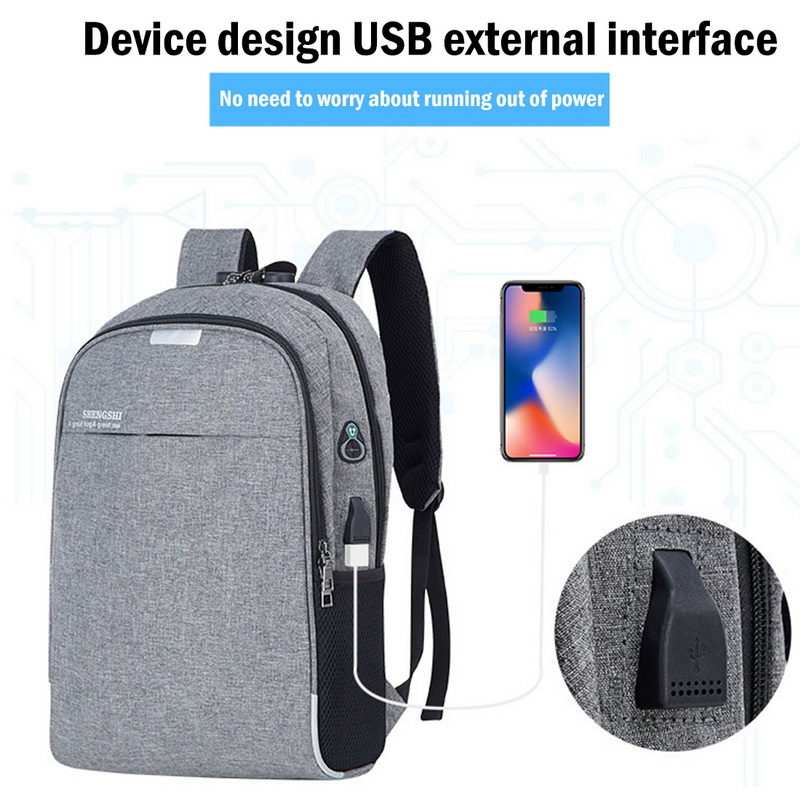 PUIMENTIUA Backpack Bookbag Usb-Charging Travel School-Vacancy Mochila Male