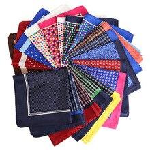 YISHLINE NEW 32 см унисекс носовой платок пейсли цветочные пледы принты мягкий тонкий карман квадрат для мужчин женщин вечеринка аксессуары