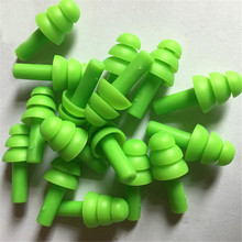 10 Pairs Waterproof Swimming Silicone Swim Earplugs for Adult Swimmers Children Diving Soft Anti-Noise Ear Plug