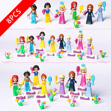 New Friends Series Toys Snow Princess Compatible Lepinzk Brick4  Building Blocks for Children Birthday Gift