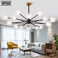 Современный светодиодный подвесной светильник в скандинавском стиле  оригинальная Подвесная лампа для спальни  гостиной  столовой  стекля...