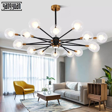 Nordic modern LED pendant lamp personality creative bedroom living room dining room glass magic bean molecular pendant lights nordic chandelier creative magic bean personality post modern minimalist living room dining room bedroom milk white ball molecul