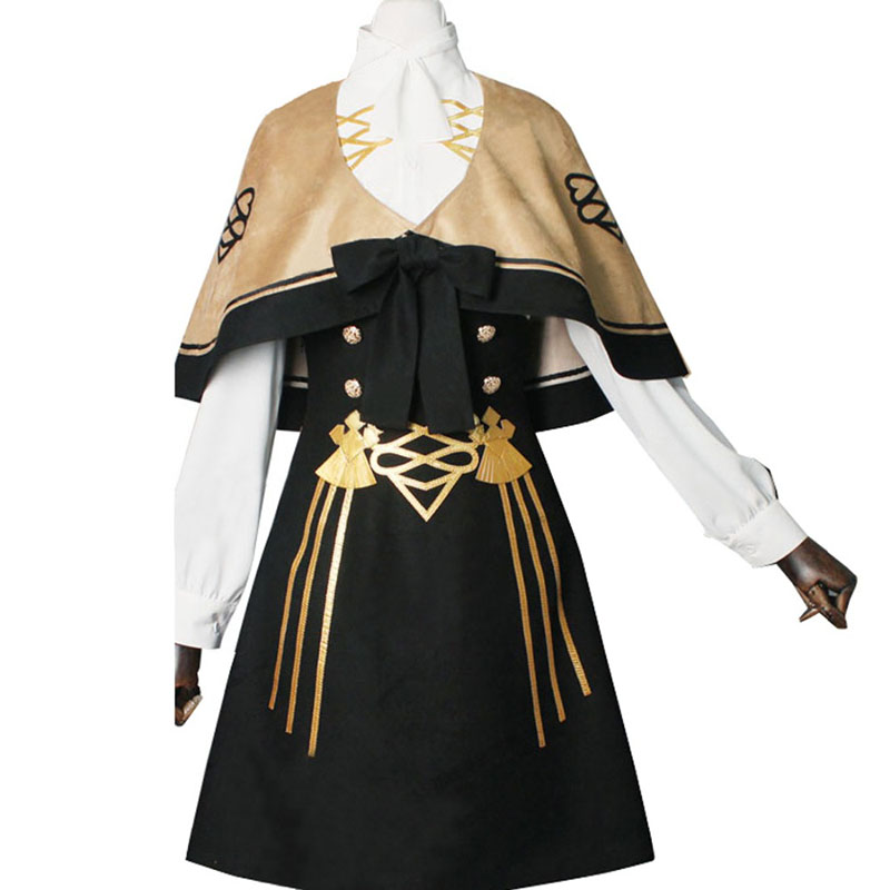 Fire Emblem Three Houses Mercedes Fancy Battle Stage Girls Cosplay Costume Adult Outfit