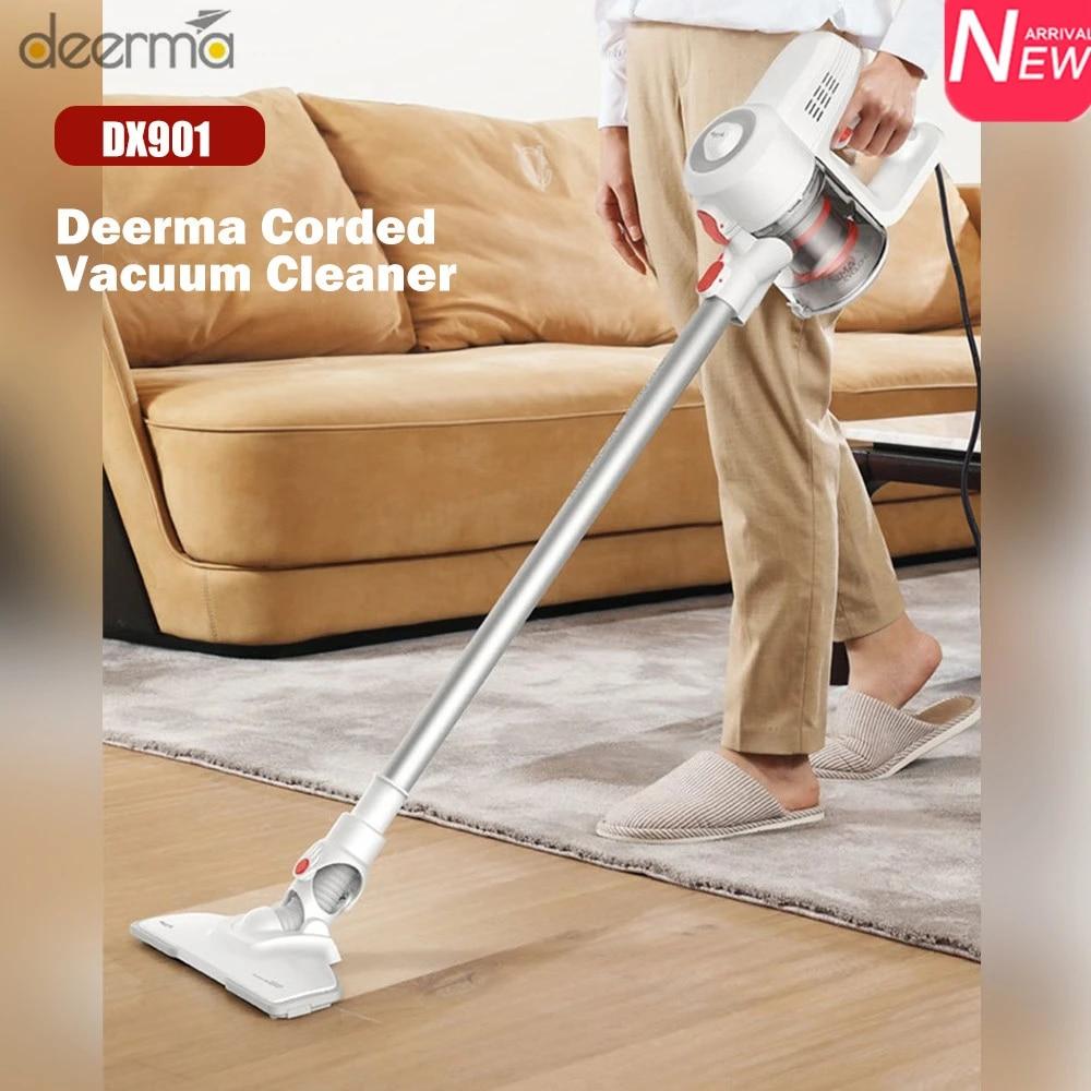 Deerma DX901 Đứng Máy Hút Bụi Cầm Tay Có Dây 2 Trong 1 Công Suất Lớn Mạnh  Mẽ Hút Vệ Sinh Máy chổi Quét Nhà Hút Vacuum Cleaners