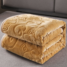 Solid Soft Warm Velvet Blanket Autumn Winter Warm Couch Bed Throw Blanket Home Decor Flower Bedding Bedspread Blanket