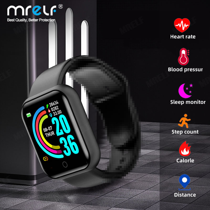 Smart Watch Women Men Smartwatch Bluetooth Blood Heart Rate Monitor Sport Pressure fitness watch for IOS Android Smart Watch 1
